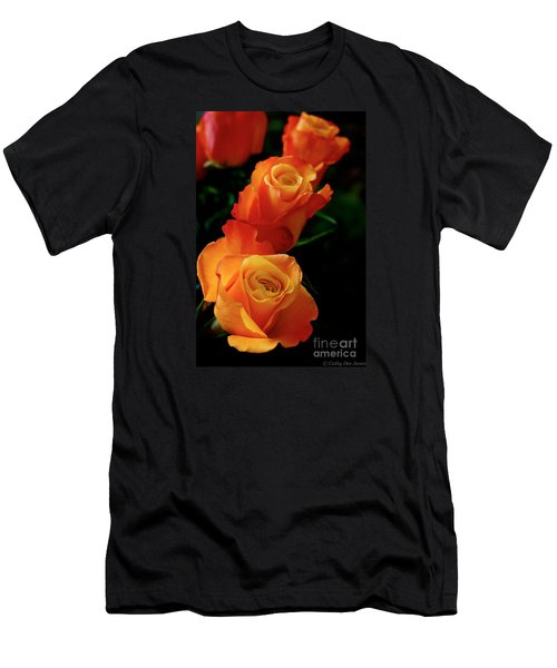 Men's T-Shirt (Slim Fit) featuring the photograph Tango In Three by Cathy Dee Janes