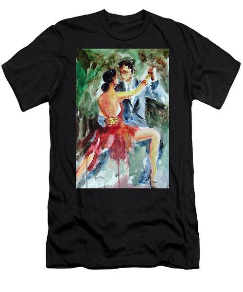 Tango In The Night Men's T-Shirt (Slim Fit) by Faruk Koksal