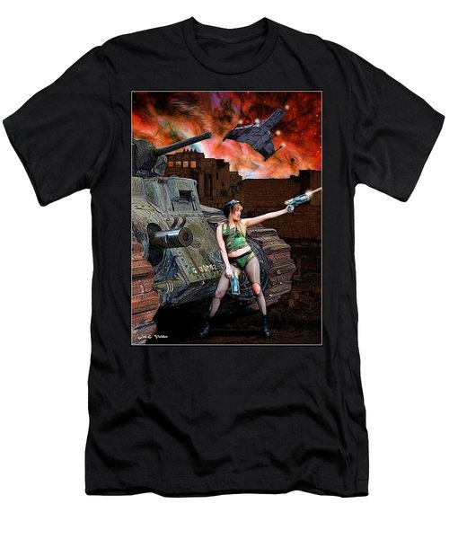 Tank Girl In Action Men's T-Shirt (Athletic Fit)