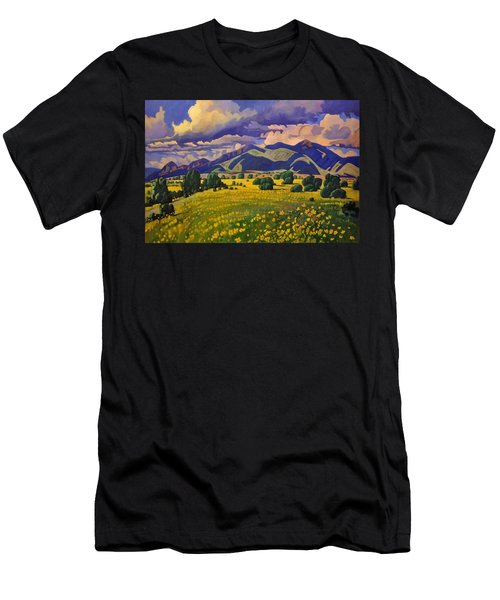 Taos Fields Of Yellow Men's T-Shirt (Athletic Fit)