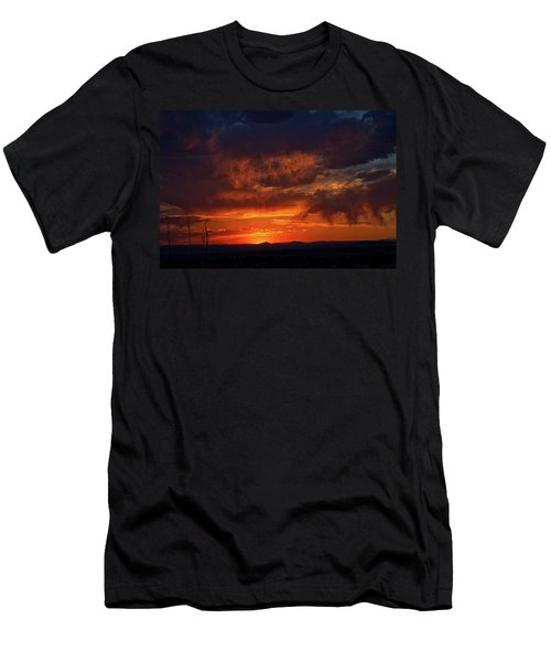 Taos Virga Sunset Men's T-Shirt (Athletic Fit)