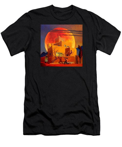 Taos Wolf Moon Men's T-Shirt (Athletic Fit)