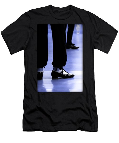 Tap Dance In Blue Are Shoes Tapping In A Dance Academy Men's T-Shirt (Athletic Fit)