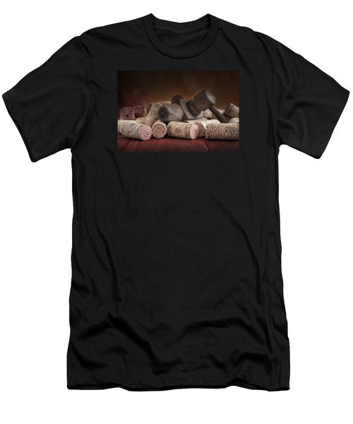 Tapped Out - Wine Tap With Corks Men's T-Shirt (Athletic Fit)