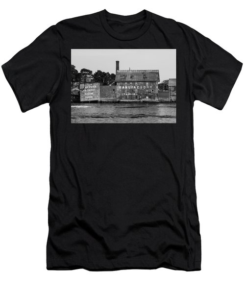 Tarr And Wonson Paint Manufactory In Black And White Men's T-Shirt (Athletic Fit)