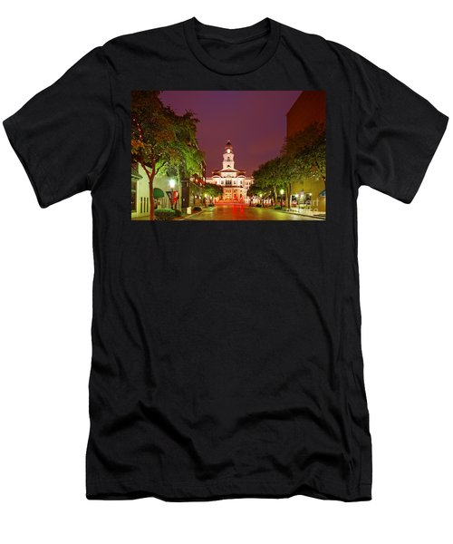 Tarrant County Courthouse At Twilight - Fort Worth North Texas Men's T-Shirt (Athletic Fit)