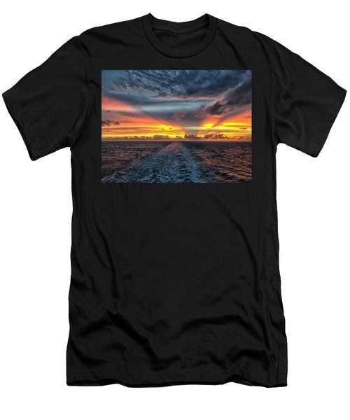 Tasman Sea Sunset Men's T-Shirt (Athletic Fit)