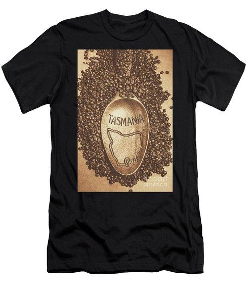 Tasmania Coffee Beans Men's T-Shirt (Athletic Fit)