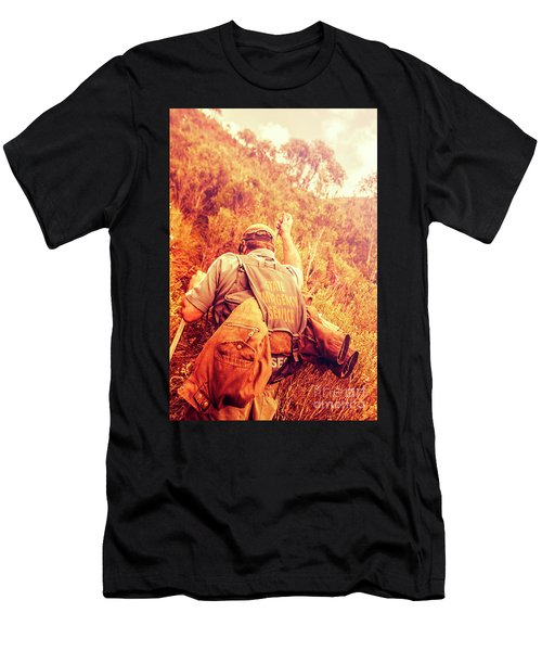 Tasmania Search And Rescue Ses Volunteer  Men's T-Shirt (Athletic Fit)