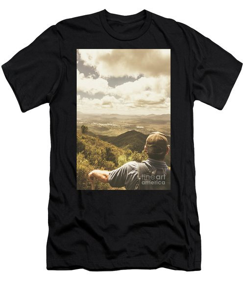 Tasmanian Hiking View Men's T-Shirt (Athletic Fit)