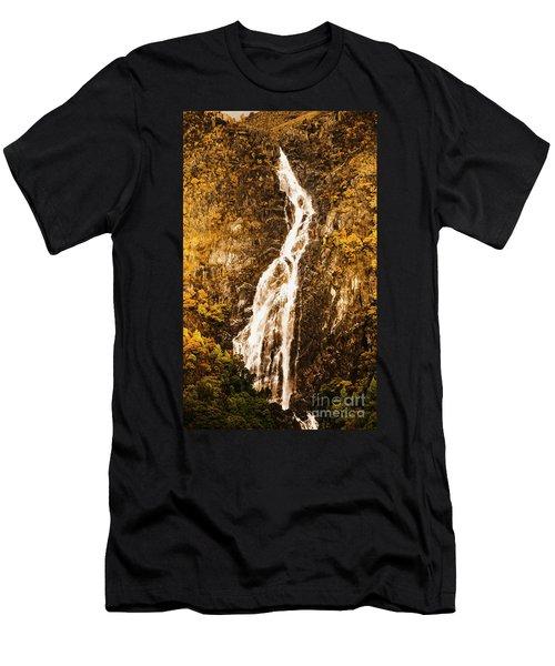 Tasmanian Waterfall Landscape Men's T-Shirt (Athletic Fit)