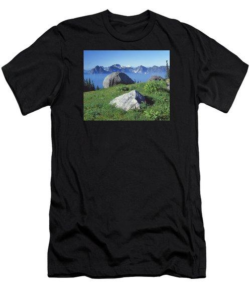 1m4862-tatoosh Range And Mt. St. Helens  Men's T-Shirt (Athletic Fit)