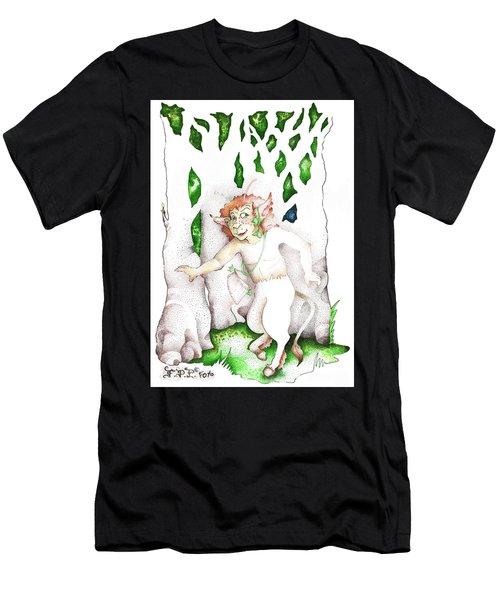 Real Fake News Nature Spirit Correspondent Men's T-Shirt (Athletic Fit)