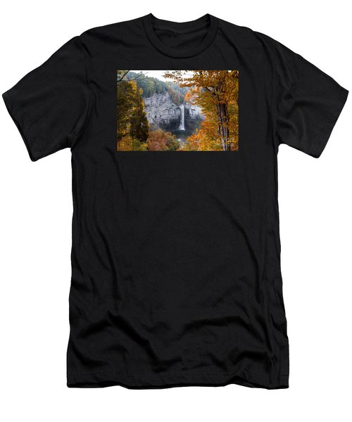 Men's T-Shirt (Athletic Fit) featuring the photograph Taughannock Autumn by William Norton