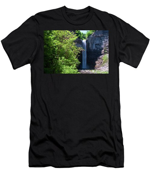 Taughannock Falls 0466 Men's T-Shirt (Slim Fit) by Guy Whiteley