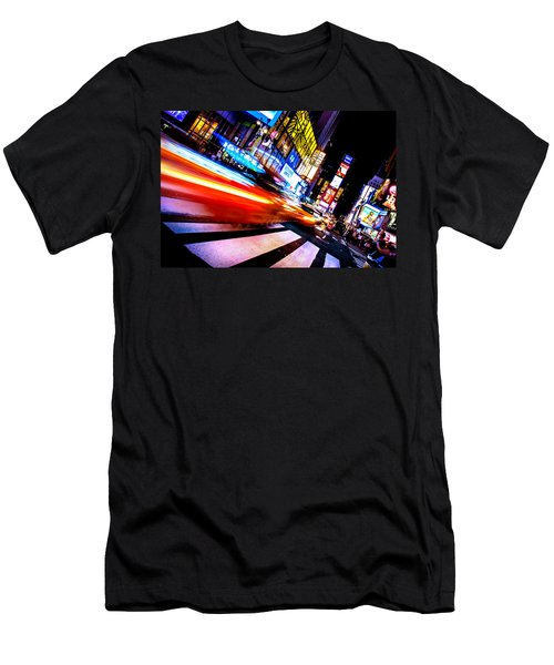 Taxis In Times Square Men's T-Shirt (Slim Fit) by Az Jackson