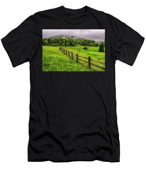 Tea Creek Meadow And Buttercups Men's T-Shirt (Athletic Fit)