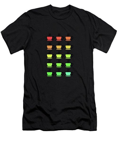 Tea Cups Men's T-Shirt (Athletic Fit)