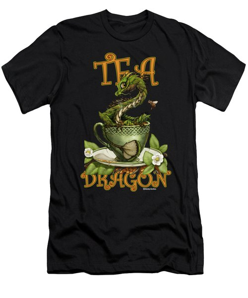 Tea Dragon Men's T-Shirt (Athletic Fit)