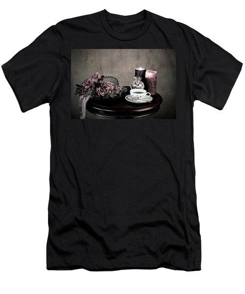 Tea Party Time Men's T-Shirt (Slim Fit) by Sherry Hallemeier