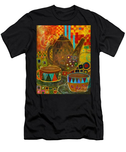 Tea Party With Klimt Men's T-Shirt (Athletic Fit)