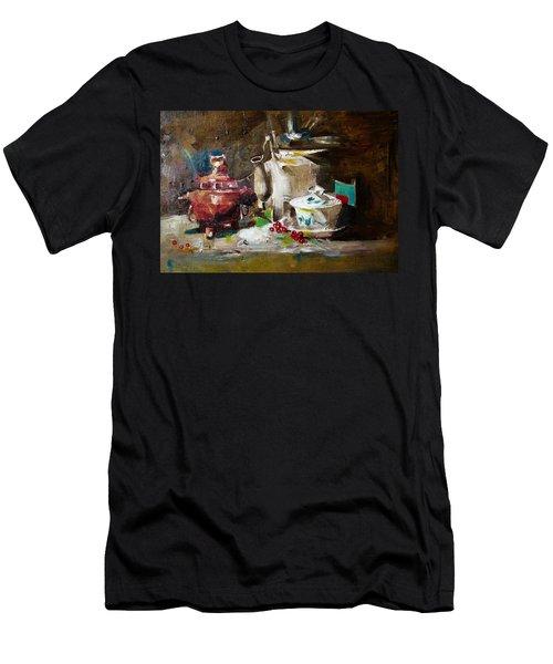 Tea Time Men's T-Shirt (Slim Fit) by Khalid Saeed
