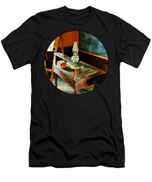 Teacher's Desk With Hurricane Lamp Men's T-Shirt (Athletic Fit)