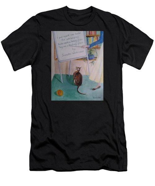 Teacher's Pet Men's T-Shirt (Slim Fit) by Veronica Rickard