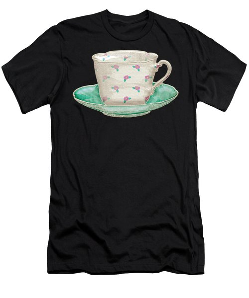 Teacup Garden Party 2 Men's T-Shirt (Athletic Fit)