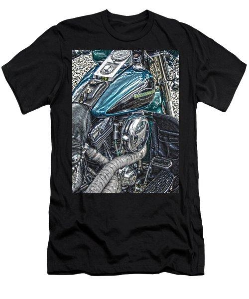 Teal Wonder Men's T-Shirt (Slim Fit) by Diane E Berry