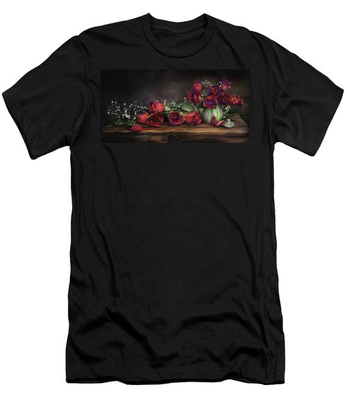 Teapot Roses Men's T-Shirt (Athletic Fit)