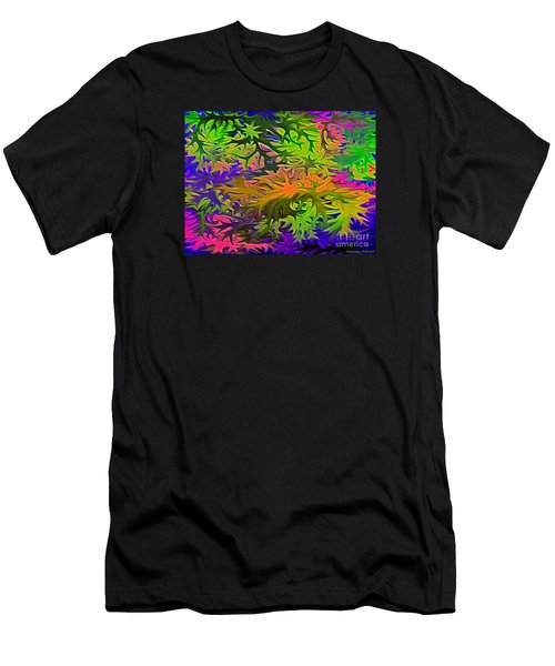 Technicolor Leaves Men's T-Shirt (Athletic Fit)