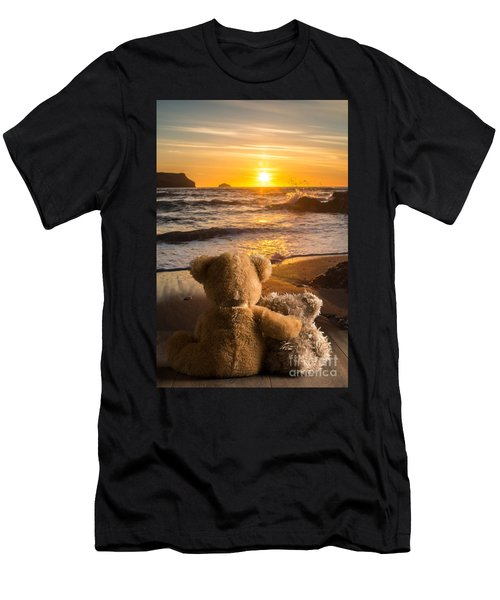 Teddies Watching The Sunset Men's T-Shirt (Athletic Fit)