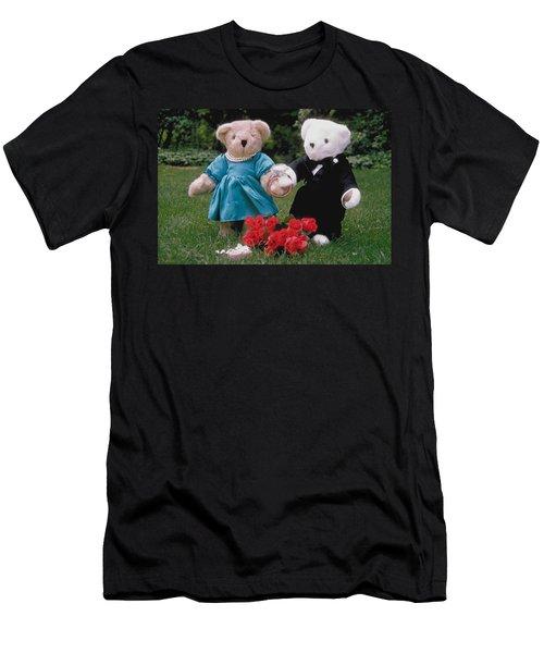 Teddy Bear Lovers Men's T-Shirt (Athletic Fit)