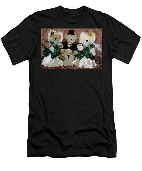 Teddy Bear Wedding Men's T-Shirt (Athletic Fit)