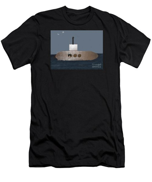Teddy In Submarine Men's T-Shirt (Athletic Fit)