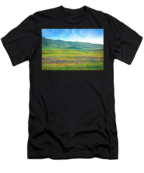 Tejon Ranch Wildflowers Men's T-Shirt (Athletic Fit)