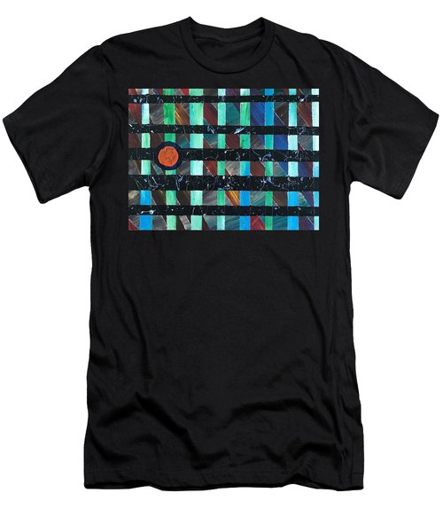Men's T-Shirt (Athletic Fit) featuring the painting Television by Robbie Masso