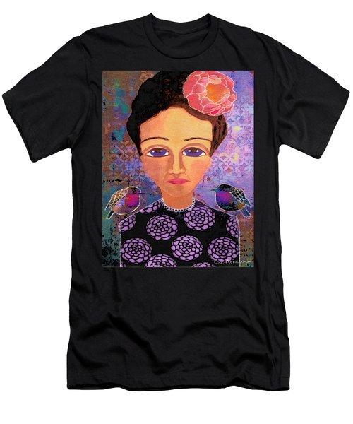 Men's T-Shirt (Slim Fit) featuring the digital art Telling Secrets by Lisa Noneman