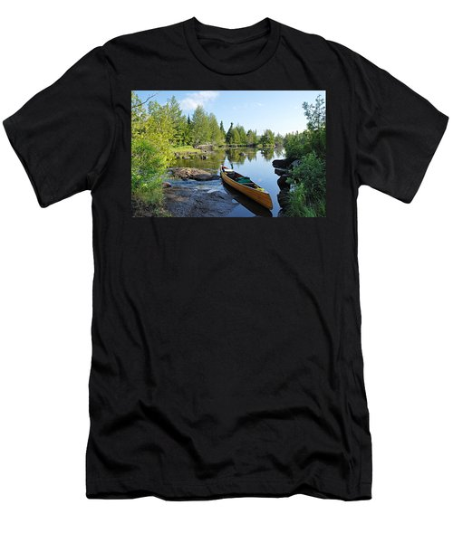 Temperance River Portage Men's T-Shirt (Slim Fit) by Larry Ricker