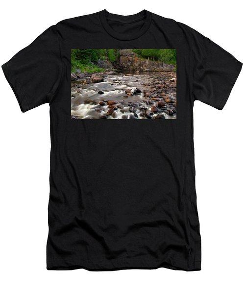 Temperance River Men's T-Shirt (Slim Fit) by Steve Stuller