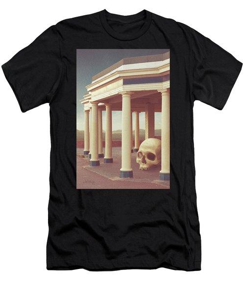 Men's T-Shirt (Athletic Fit) featuring the digital art Ten Pillars by Joseph Westrupp