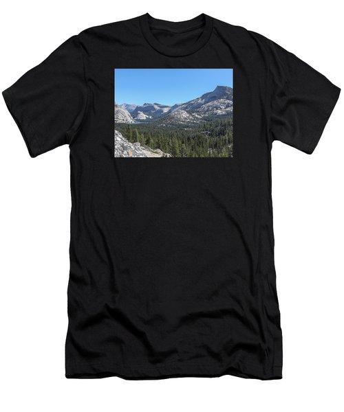 Tenaya Lake And Surrounding Mountains Yosemite National Park Men's T-Shirt (Athletic Fit)
