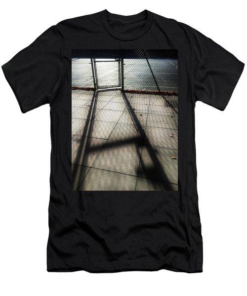 Tennis Court Shadows Men's T-Shirt (Athletic Fit)