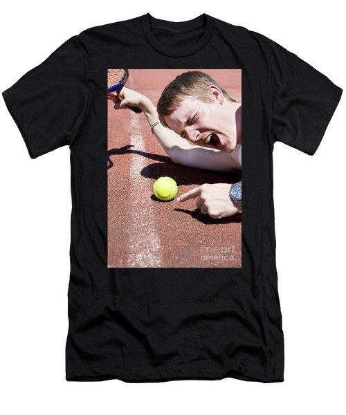 Tennis Player Tantrum Men's T-Shirt (Athletic Fit)