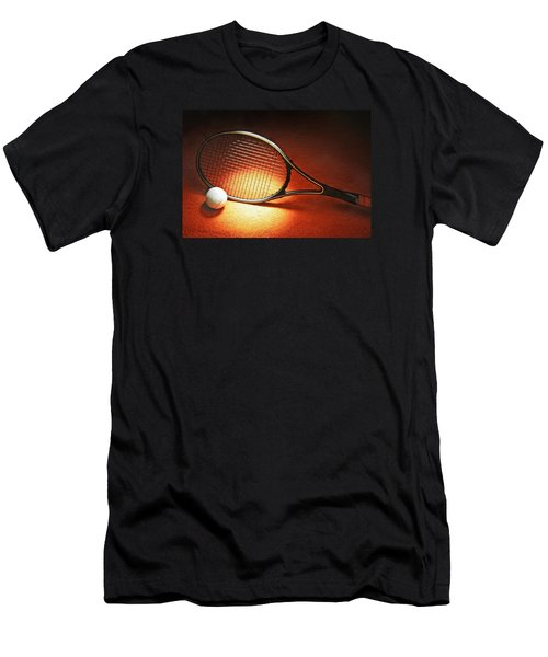 Tennis Racket Men's T-Shirt (Athletic Fit)