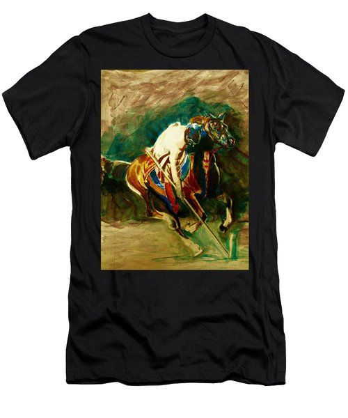 Tent Pegging Sport Men's T-Shirt (Slim Fit) by Khalid Saeed