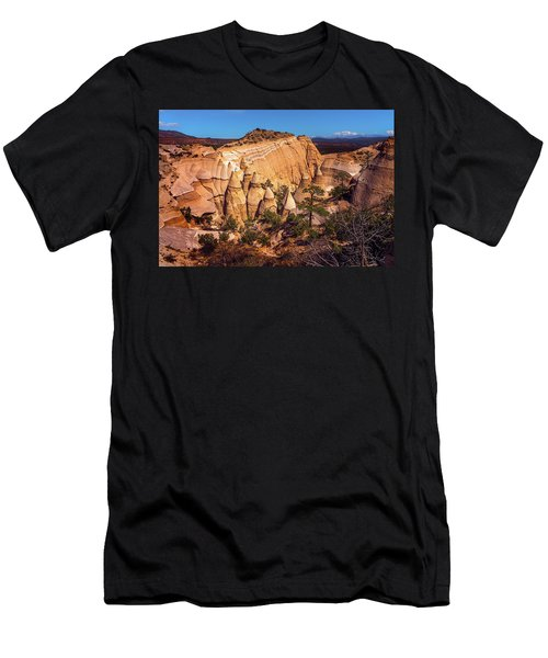 Tent Rocks From Above Men's T-Shirt (Athletic Fit)