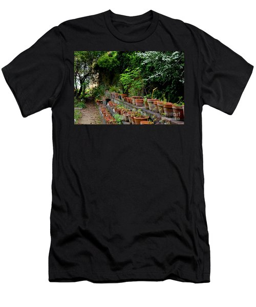 Terracotta Pots In The Botanical Gardens Of Pisa Italy Men's T-Shirt (Athletic Fit)
