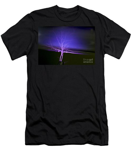 Tesla Coil Men's T-Shirt (Athletic Fit)